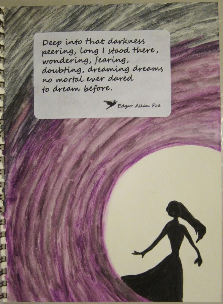 """Dark Dreams"" Created using watercolors and watercolor crayons. Created 4/1/2013"